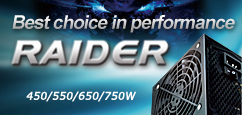 Best choice in performance - RAIDER Series